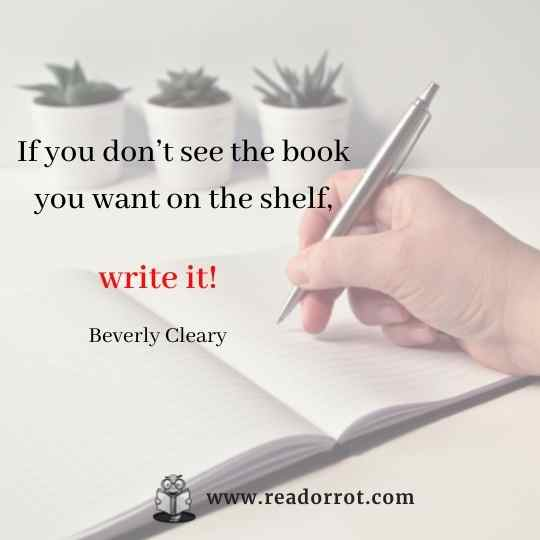 If you don't see the book you want on the shelf, write it.