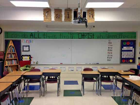 A photo of Kelly's Fifth Grade Classroom at Precious Blood