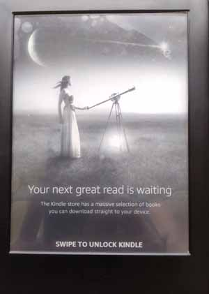 Lock screen on Kindle Touch