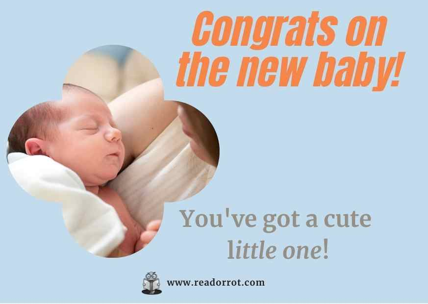 Congrats on the new baby