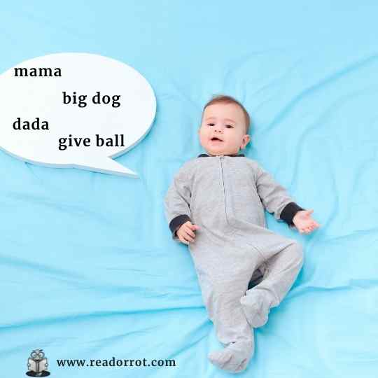 Baby talking showing a word cloud